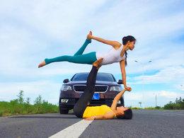动与静的融合 爱车与瑜伽相得益彰