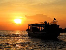 夕阳西下 你我共赏柬埔寨日落