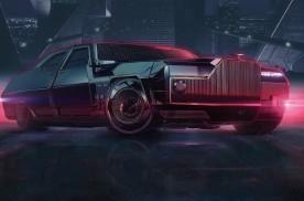 劳斯莱斯幽灵渲染赛博朋克2077汽车效果图 又狂又野又迷人
