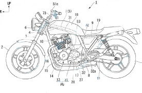 本田欲复活半自动摩托车 新专利展示了半自动的CB1100