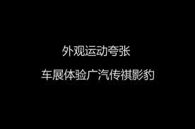 外观运动夸张 车展体验广汽传祺影豹