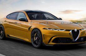 阿尔法·罗密欧全新轿车假想图 将于2025年面世