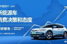 2021中国用户新能源车消费决策和态度调研报告