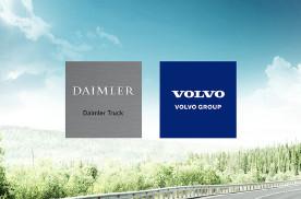 倾向于氢燃料长途卡车,沃尔沃和戴姆勒强强联合