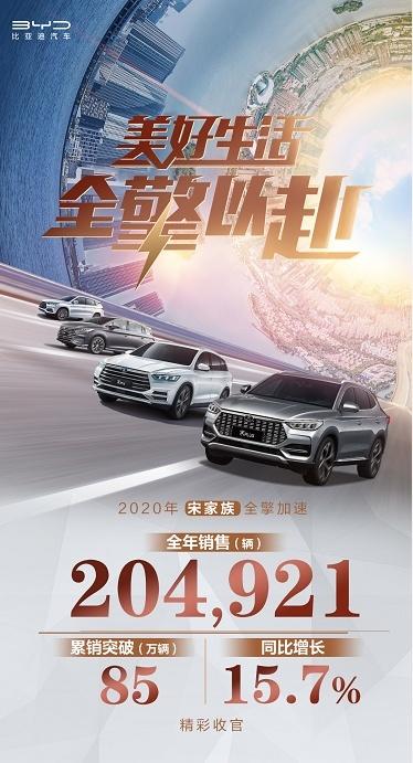 2020年宋家族盘点:有超20万车主获得了