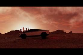 网友自制CG:当Cybertruck来到火星基地……