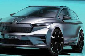 斯柯达公布Enyaq iV设计图,揭露其首款电动SUV外观