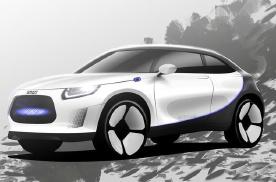 smart全新纯电动SUV渲染图发布 预计2022年亮相