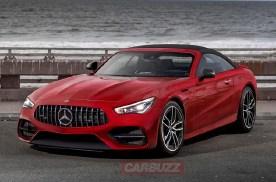 全新奔驰SL渲染图曝光 有望2021年内正式亮相