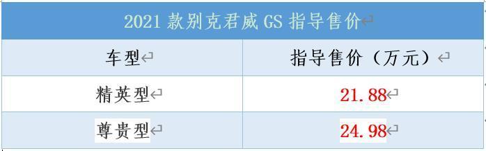 2021款别克君威GS正式上市,售价21.88万起-爱卡汽车爱咖号