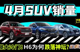4月SUV榜单曝大冷门!H6为何跌落神坛?