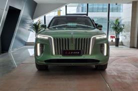 首款红旗E-HS9实车到店,绿色版再获好评,配遥控泊车