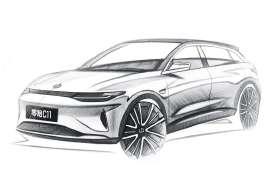 外形高度沿袭概念车,定位中型电动SUV,零跑C11预告图发布