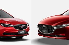 10万元合资入门紧凑级家轿对比,别克英朗/昂克赛拉选择谁?