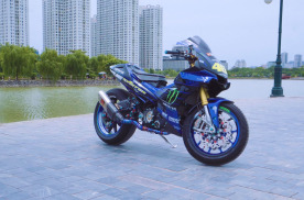 踏板车改出公升级感觉,越南玩家的Exciter 150改装作