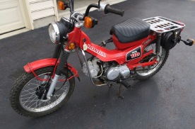 本田摩托推2021款Trail125摩托,可轻度越野幼兽车架