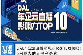DAL车企云直播影响力Top 10放榜啦!5月最火直播竟是它
