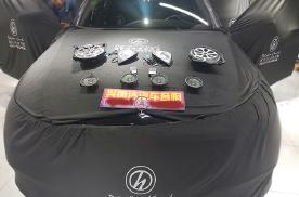 奔驰E300音响改装柏林之声,沈阳兴康达无损改装升级作业