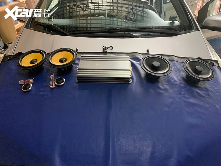臺州本田思域汽車音響改裝黃金聲學兩分頻,同軸,功放-愛咖號