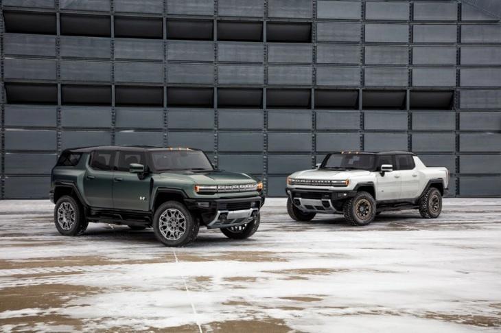 全新纯电动悍马EV官图发布 粗狂线条设计/硬汉味十足