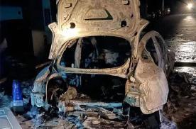 据传上海一特斯拉Model 3地库爆燃 人员安全但车辆焚毁