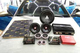 台州汽车音响改装隔音升级,大众改装黄金声学喇叭,大麦隔音