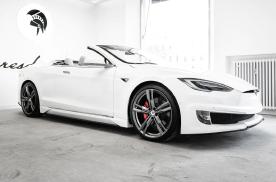 全球首辆特斯拉Model S 双门敞篷车亮相,不要太惊艳了!