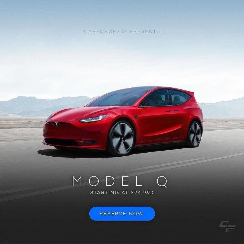 《【华宇注册地址】特斯拉model Q渲染图曝光,采用两厢设计,定位低于model 3》