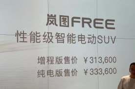 岚图FREE正式上市,售价31.36万起