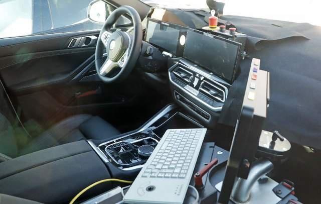 新车|换装双联屏 水晶挡把消失 中期改款宝马X6谍照曝光