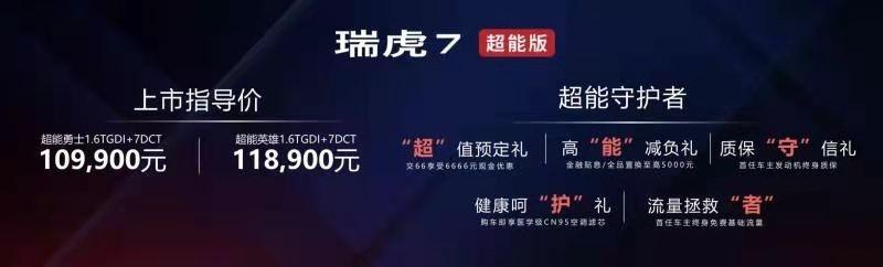 运动元素更丰富,搭1.6T发动机,瑞虎7超能版10.99万起售