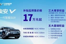 4月27日广汽新能源Aion V开启预售,预售价17万元起