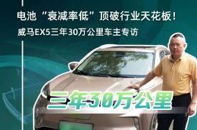"""电池""""衰减率低""""顶破行业天花板!威马EX5三年30万公里车主"""