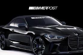 全新宝马M4渲染图曝光,新车外形更加运动,进气格栅进一步加长