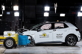 备受争议的大众,最新电动车也接受撞击测试,结果如何?