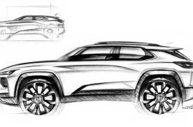 通用雪佛兰跨界SUV素描设计草图曝光 采用通用最新设计语言