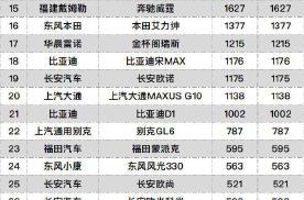 1月MPV销量,五菱宏光风光不再?