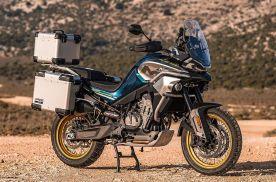 硬派国产拉力越野摩托,春风MT800官方照流出?三箱配辐条轮
