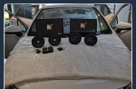 东营浩声别克威朗汽车音响改装卓梦E165B两分频 乐享生活