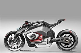宝马电动摩托新专利,电动机采用纵向布局,致敬拳击手发动机