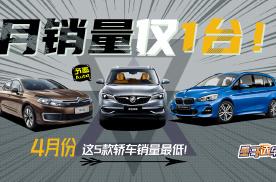 月销量仅1台!4月份这5款轿车销量最低!