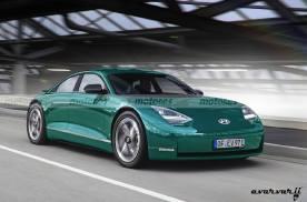 外媒发布现代Ioniq 6电动车预想图 预计2022年推出