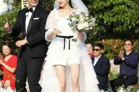 关晓彤白色蓬蓬婚纱美呆了!