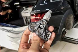东莞奥迪A4 allroad升级改装二代胎压+动态尾灯