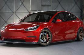 特斯拉Model 3改装车型实拍 增加大量空气动力学套件