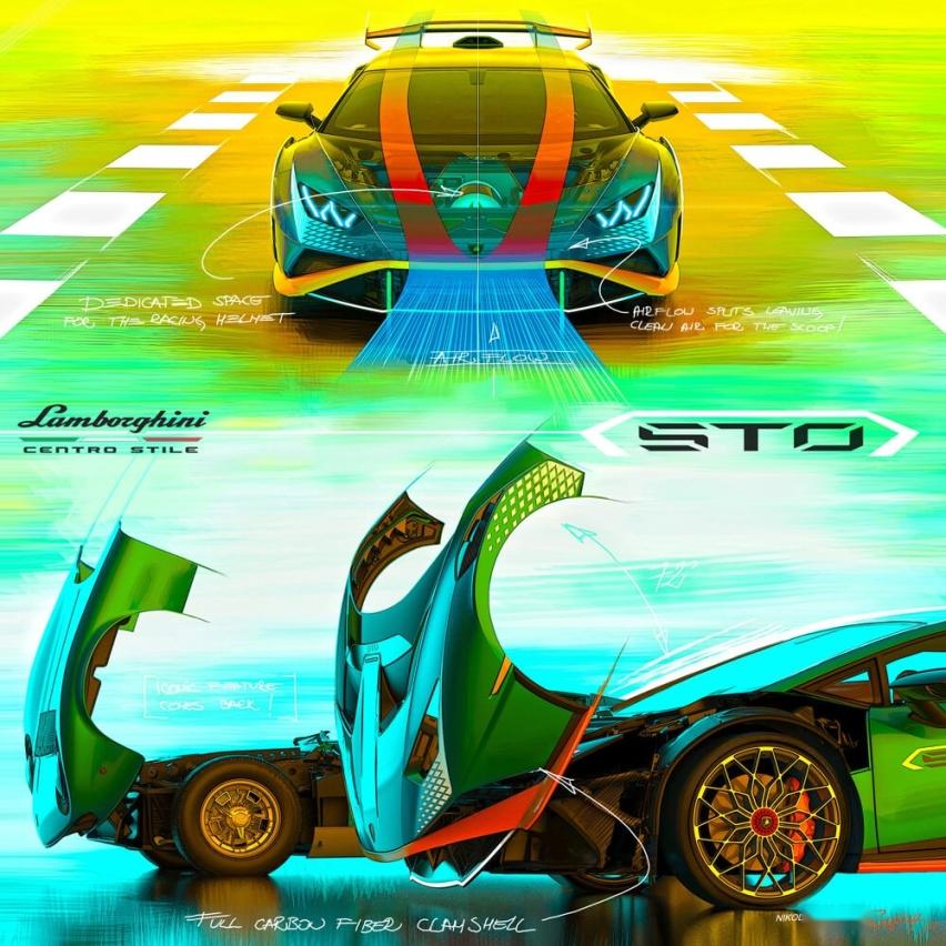 兰博基尼小牛STO对比法拉利SF90,赛道小牛比法拉利更强?