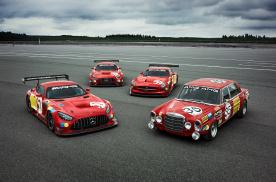 """经典""""红猪""""涂装 AMG推出斯帕50周年纪念版GT3赛车"""