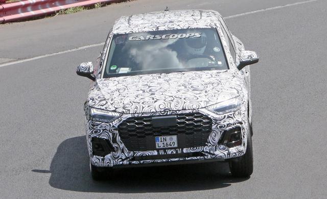 奥迪Q5Sportback车型测试谍照曝光预计年底亮相-爱卡汽车爱咖号