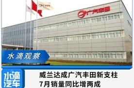 威兰达成广汽丰田新支柱,7月销量同比增两成