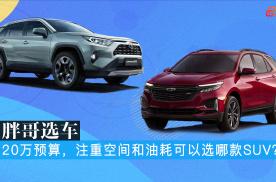 胖哥选车 20万预算,注重空间和油耗可以选哪款SUV?